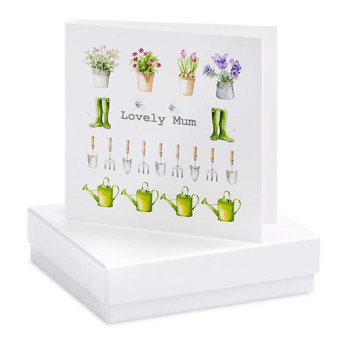 Boxed Gardening Lovely Mum Earring Card