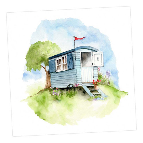 Shepherd's Hut Card