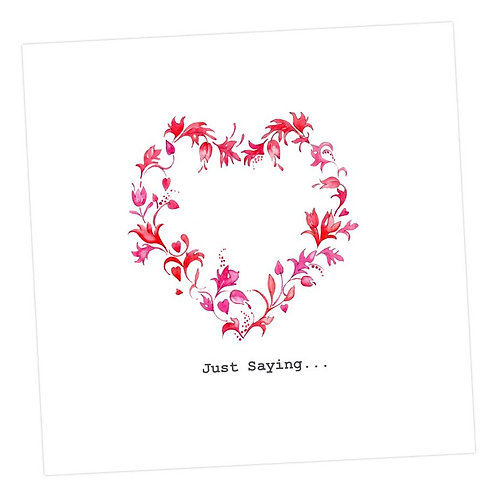 Red Floral Love Heart