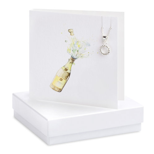 Boxed Champagne Cubic Zirconia Necklace Card