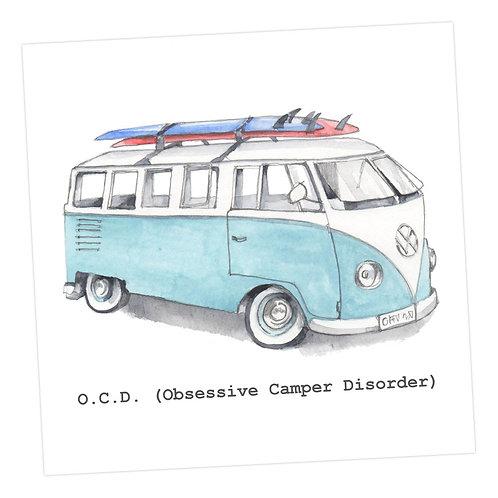 OCD (Obsessive Camper Disorder) Card