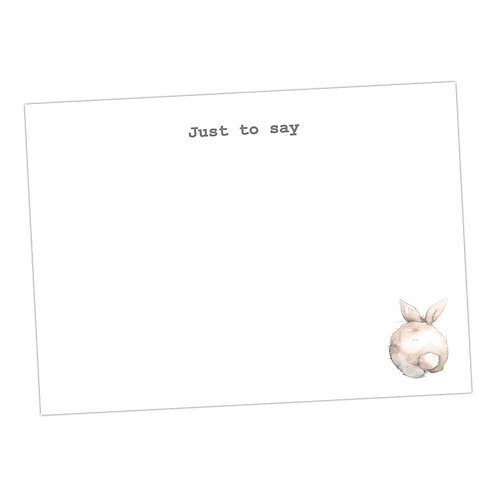Bunny Bottom Note Cards