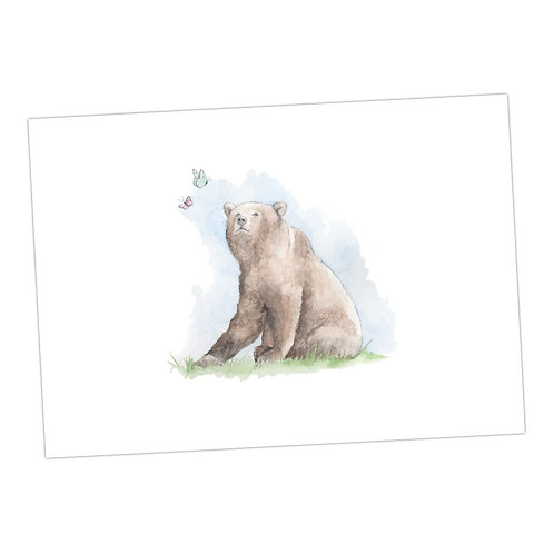 Bear & Butterflies Print