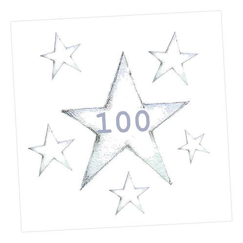 Star 100th Card