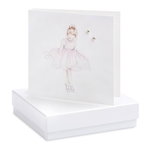 Boxed Ballerina Earring Card