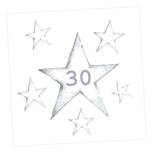 Star 30th Card