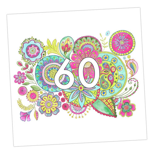 Embroidered 60th Card
