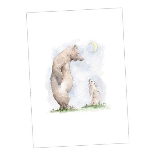 Bear & Hare Print