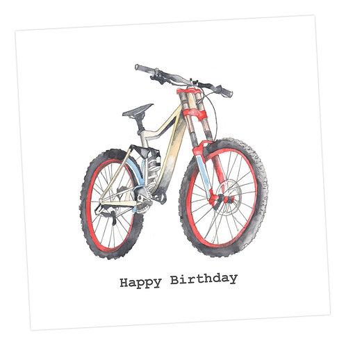 Bike Happy Birthday Card