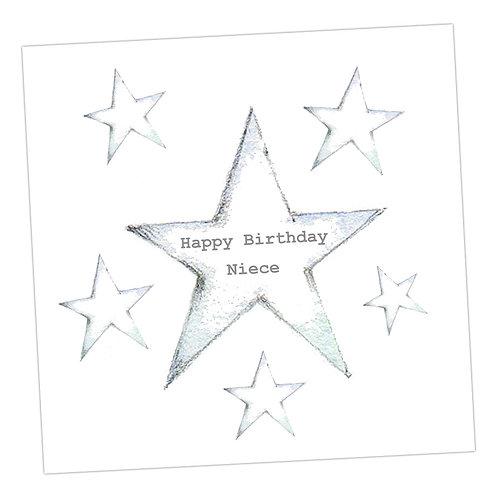 Star Niece Birthday Card