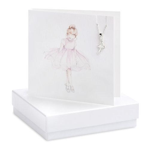 Boxed Ballerina Necklace Card
