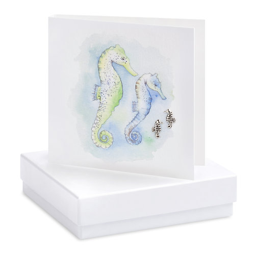Boxed Seahorse Earring Card