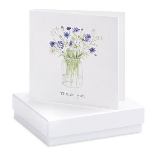Boxed Cornflower Thank you Earring Card