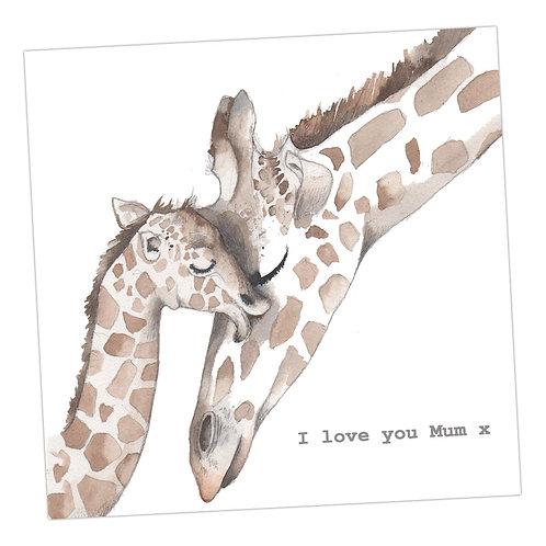 Mum Giraffe card