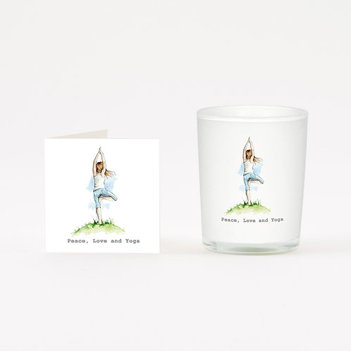 Yoga Boxed Candle & Card