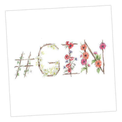 Floral Letters #Gin