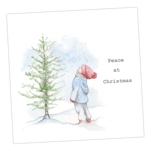 Little Boy & Tree Christmas Card