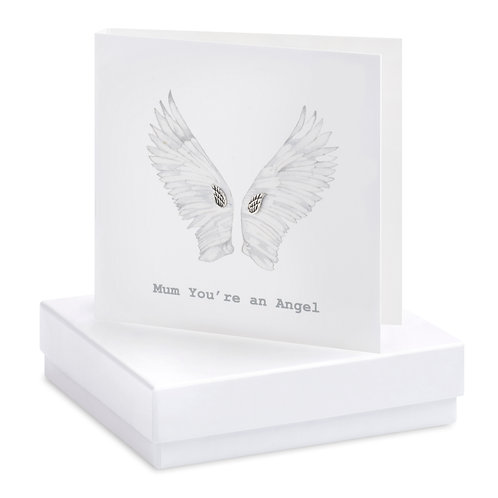 Boxed Mum You're an Angel Earring Card