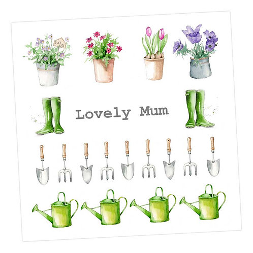 Lovely Mum Gardening Card