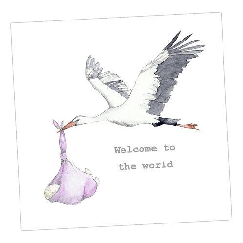 Stork New Baby Girl
