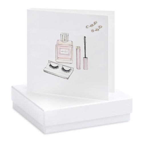 Boxed Make Up Earring Card
