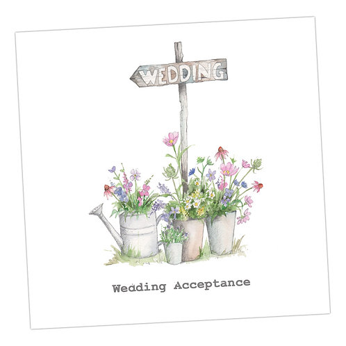 Wedding Sign Acceptance Card