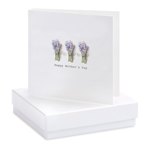Boxed Lavender Mother's Day Earring Card