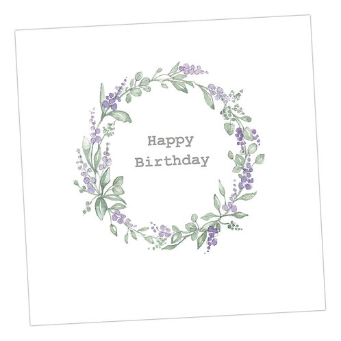 Birthday Lavender Wreath