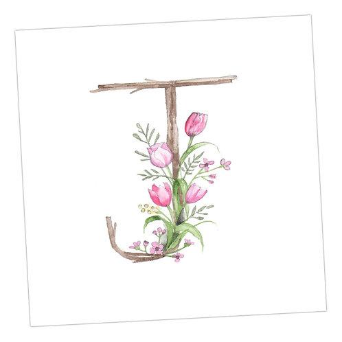 Floral Letters J