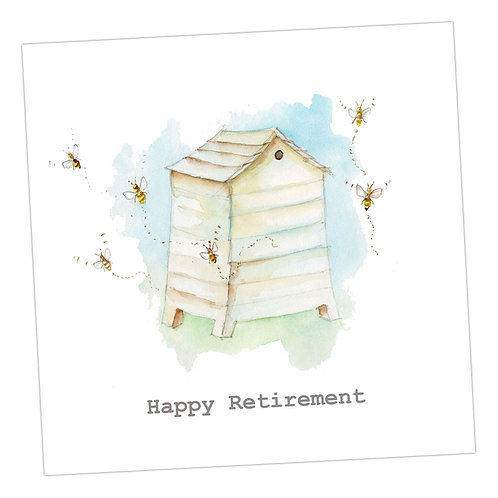 Bee Hive Retirement Card