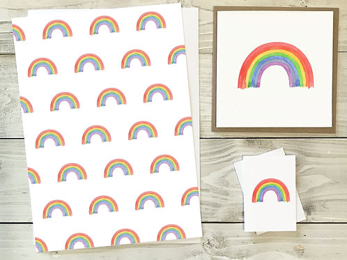 Rainbow Gift Wrap & Tag Pack