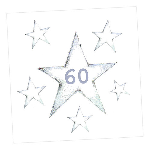 Star 60th Card