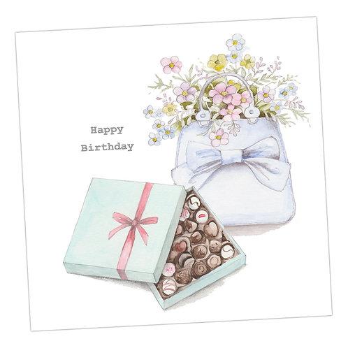 Birthday Bag & Choccies Card