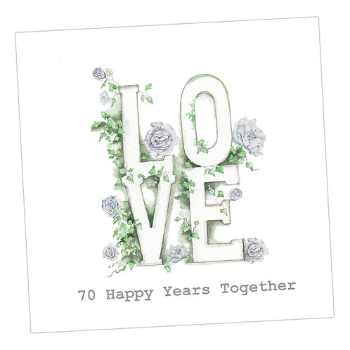 Love Letters 70th Anniversary Card