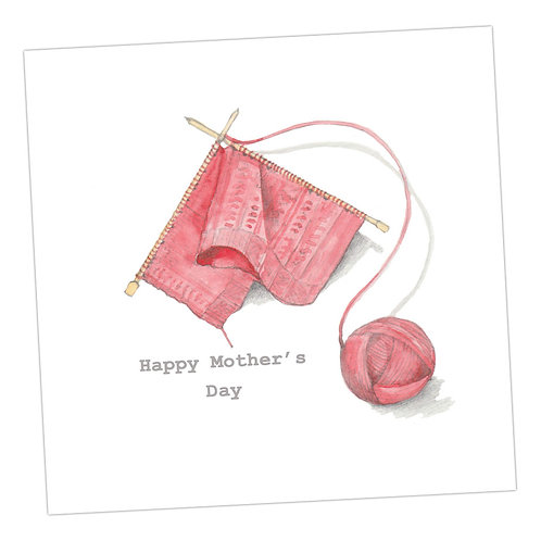 Knitting Mother's Day Card
