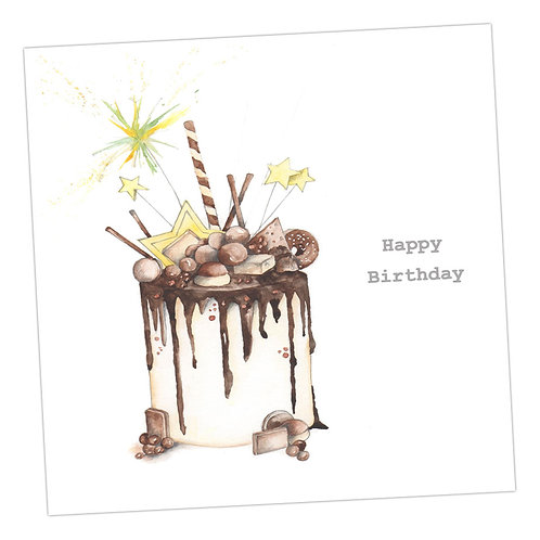 Choccie Woccie Cake Card