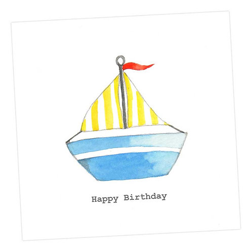 Toy Boat Birthday Card