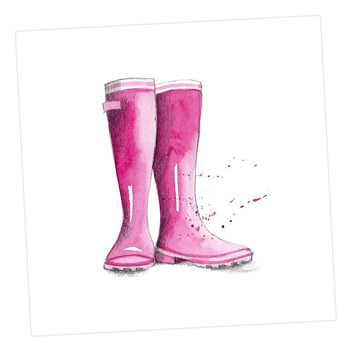 Pink Wellies Card