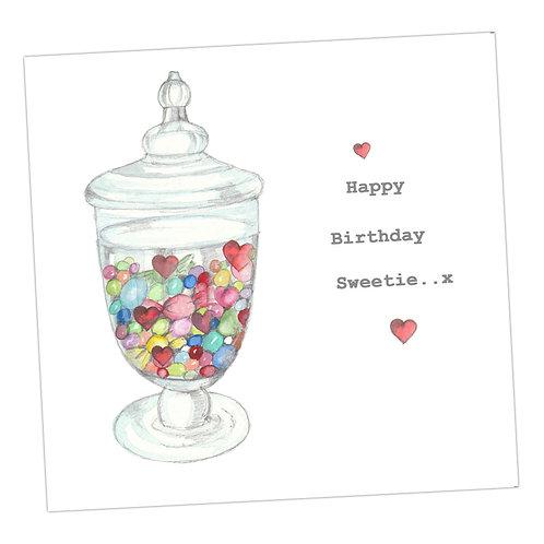 Sweet Jar Birthday Card