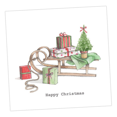 Sledge Christmas Card