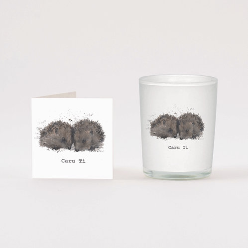 Welsh Love You Boxed Candle & Card