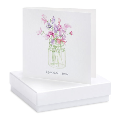 Boxed Sweet Pea Special Mum Earring Card