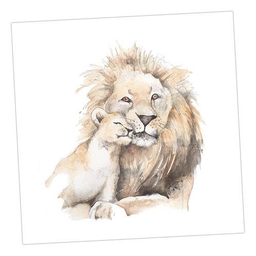 Lion Blank Card