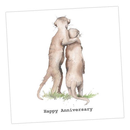 Meerkats Anniversary Card