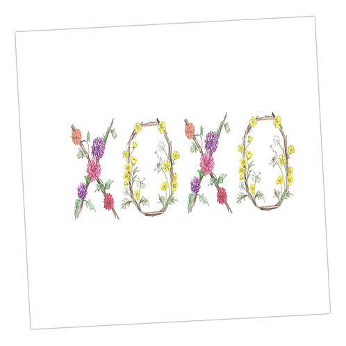 Floral Letters XOXO