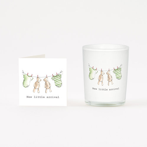 New Baby Boxed Candle & Card