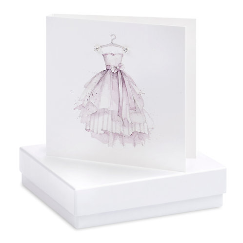 Boxed Party Dress Blank Earring Card