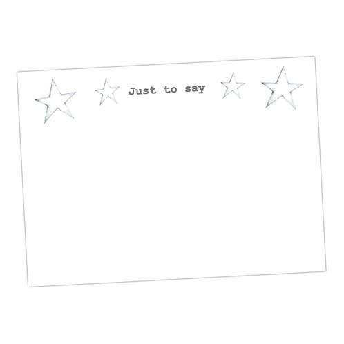 Silver Star Note Cards