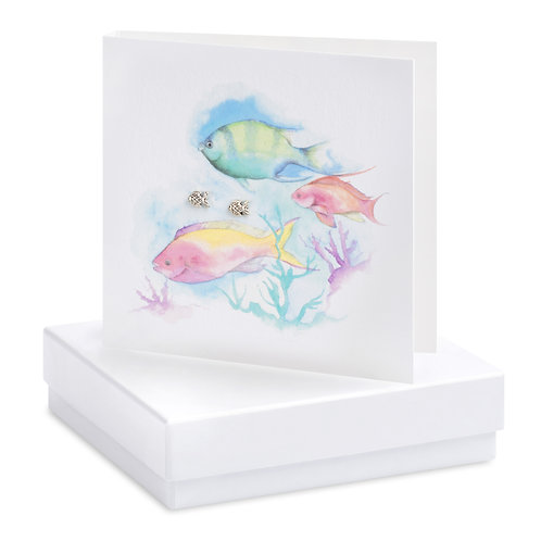 Boxed Fish Earring Card