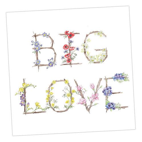 Floral Letters Big Love